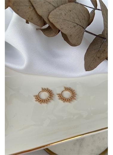 My Joyas Design Tırtıklı Halka Küpe Altın